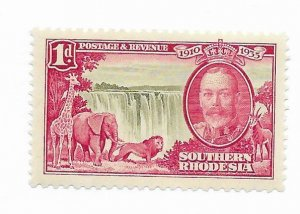 South Rhodesia #33 MH - Stamp - CAT VALUE $4.25