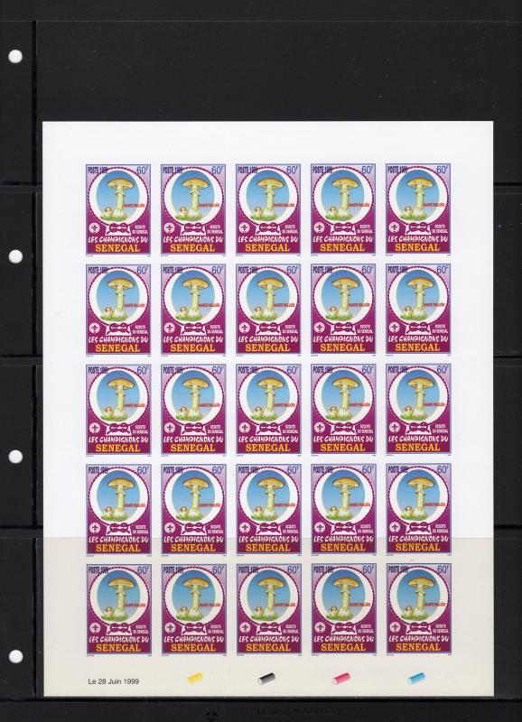 Senegal 1999 Sc#1381/1384 Mushrooms/Scouts Set Imperf.Mini-Sheetlet (25)