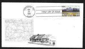 United States 2444 Wyoming Statehood First Day Cover FDC (z5)