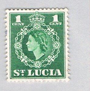 St Lucia 157 Used QEII 1953 (BP59318)
