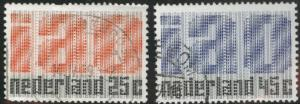 Netherlands Scott 458-459 used 1969 set