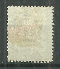 1863 Italy #24  1c Numeral used with hinge remnant
