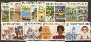 SINGAPORE SG624/36 1990 DEFINITIVE SET USED