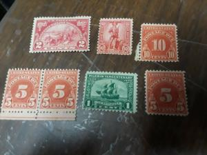 USA Mint No Gum & Hinged Stamps