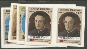 Dominican Republic SC 1096-9 Imperf Pairs MNH (2cuv)