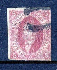 Argentina #8 5c Red (USED) cv$250.00