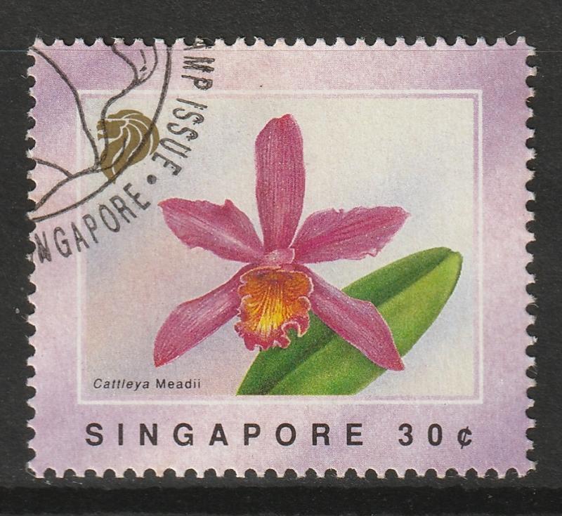 Singapore 1991 Orchids - motifs on the Singapore dress 30c CTO SG#661