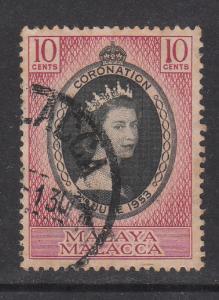 Malaya Malacca 1953 Sc 27 Coronation Used