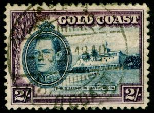 GOLD COAST SG130a, 2s blue & violet, USED. Cat £21.