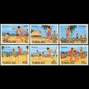 TOKELAU 1987 - Scott# 144-9 Trad.Sports Set of 6 NH