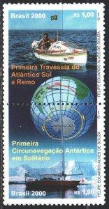 Brazil. 2000. 3034-35. Around the world around Antarctica, ship. MNH.