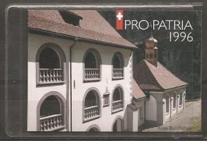 Switzerland B615 1996 Pro Patria Booklet of 10 NH
