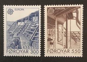 Faroe Islands 1987 #156-7, MNH, CV $2.75