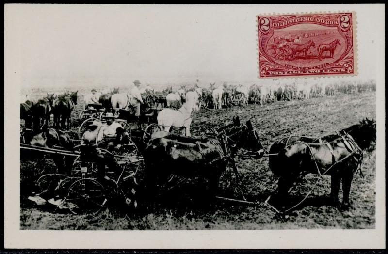 #286 WITH ACTUAL PHOTO ESSAY OF STAMP ON POSTAL CARD BQ6281
