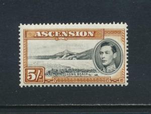 ASCENSION 1938, 5sh P13½. VF MLH SG#46 CAT£95 $123 (SEE BELOW)