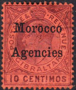 Great Britain Offices in Morocco #28 Used