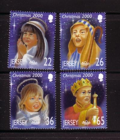 Jersey Sc 970-3 2000 Christmas stamp NH