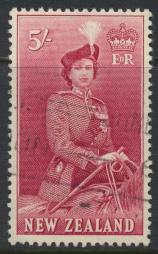 New Zealand SG 735 SC# 300 Used  see details 1953 QE II  Definitive Issue
