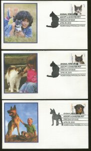 2010 Hollywood California Animal Rescue Adopt a Shelter Pet Fleetwood FDC Set
