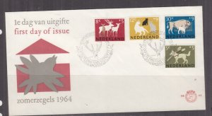 NETHERLANDS, 1964 Social Welfare Funds set of 4 on First Day cover.