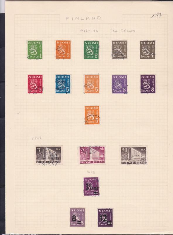 finland 1932 & 1942-46  stamps page ref 18049