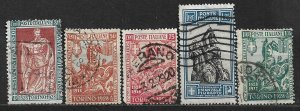 COLLECTION LOT OF 5 ITALY STAMPS 1928 CV+ $81