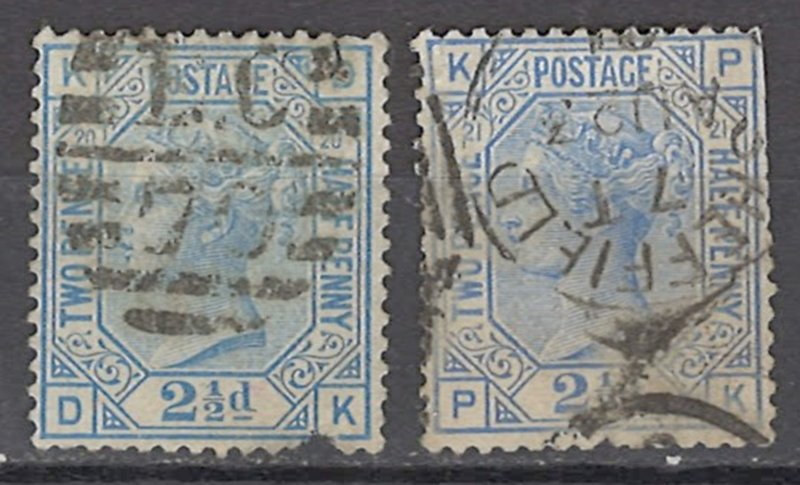 COLLECTION LOT OF #1043 GREAT BRITAIN # 67 + 82 PT 20-21 1880+ CV=$105