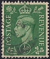 Great Britain #258 1/2P King George 6, used EGRADED VF 80