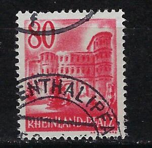 Germany - under French occupation Scott # 6N37, used