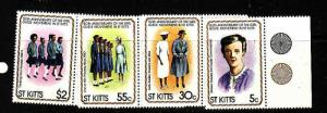 St Kitts-Sc#82-5-unused NH set-Girl Guides-1981-