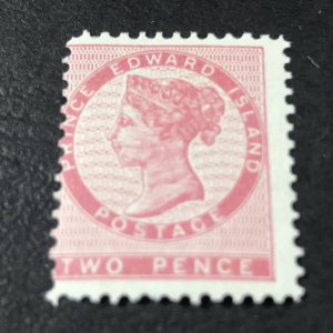 PRINCE EDWARD ISLAND # 5-MINT/HINGED------ROSE------1862-65(LOTA)