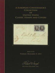 Classic U.S. Stamps & Covers, Robert A. Siegel, Sale 111, Dec. 15, 2015, Catalog