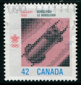 1131  Canada 42c Winter Olympics - Bobsleigh, used