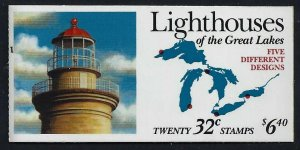 BK230 2973a,Great Lakes Lighthouses. 32¢  Booklet of 20⭐⭐⭐⭐⭐⭐
