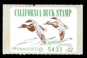 momen: US Stamps CA-2 California State Duck Mint OG NH VF