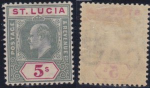 St. Lucia #56 mint hinged CV $85