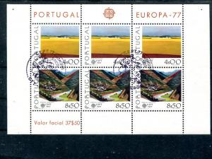 Portugal  Europa 1977 sheet  VF FDC