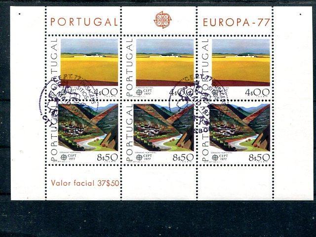 Portugal  Europa 1977 sheet  VF FDC