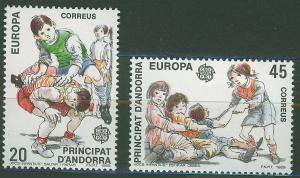 ANDORRA SPANISH 1989 MNH SC.200/201 Europa CEPT