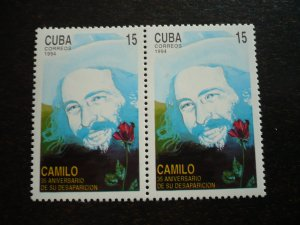 Stamps - Cuba - Scott# 3602 - MNH single stamp in Pairs