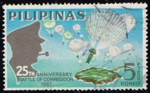 Philippines #972 Battle of Corregidor; Used (1Stars)