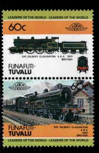 Funafuti-TUVALU Scott 19 MNH** Train pair