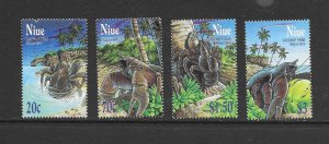 NIUE #759-62  COCONUT CRABS  MNH (ONE DAMAGED)