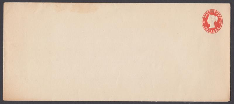 Great Britain H&G KB15 mint 1892 ½p Printed to Private Order Envelope, 224x97mm