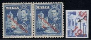 Malta, CW 13b, MLH pair Extra Window variety