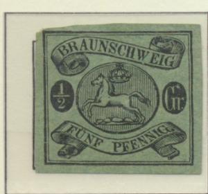Brunswick (German State) Stamp Scott #6, Unused, No Gum, Large Margins - Free...