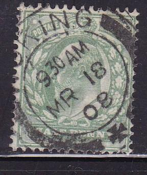 Great Britain 1902 1/2d pale green King Edward VII F/VF/Used Nice Woking CDS