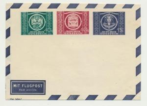 AUSTRIA 1949 UPU SET AIR ENVELOPE VF UNUSED A3d (SEE BELOW)