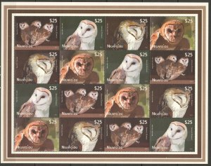 KS 2012 NIUAFO'OU FAUNA BIRDS OWLS MICHEL 440 EURO BIG SH MNH STAMPS