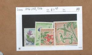 Laos  246-248, C116  MNH